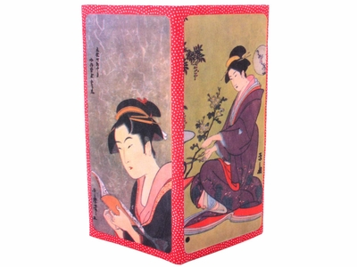 Geisha with Book and Bonsai Paper Wallet