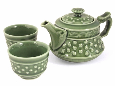 Polka Dots Porcelain Teaset for Two
