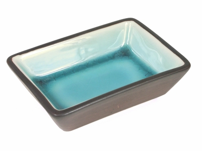 Tropical Teal Rectangular Sauce Dish (21 pcs only)