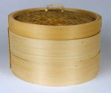 10-1/4 Inch Bamboo Chinese Steamer