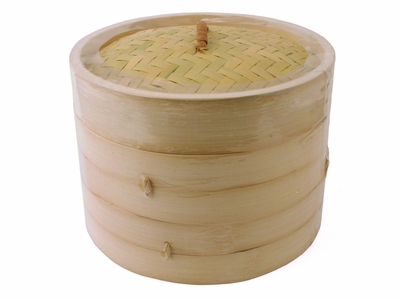 8 Inch Chinese Bamboo Steamer