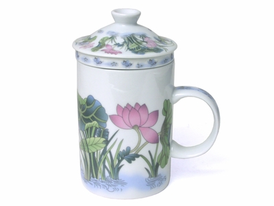 Lotus and Butterfly Infuser Mug