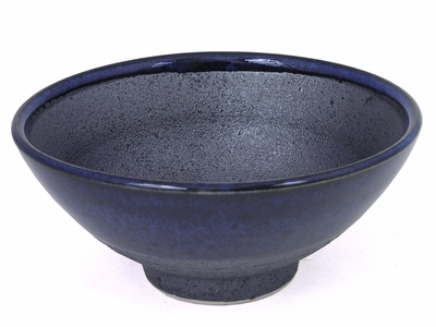 Modern Black and Blue Ceramic Bowl