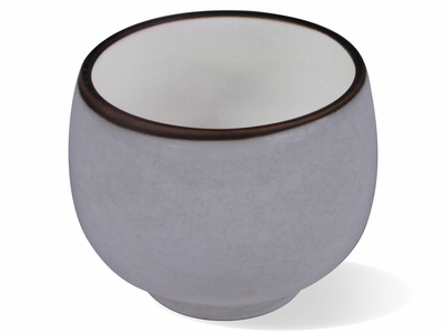 Contemporary Brown on White Simple as Clarity Sake Cup