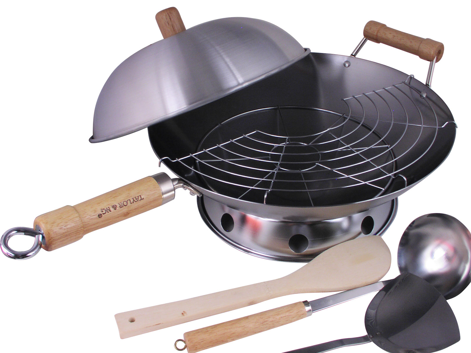 All In One Asian Kitchen Must Have Complete Round Bottom Wok Set