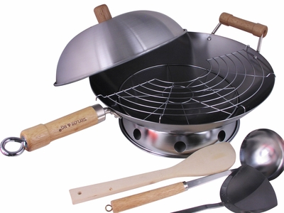 All-in-One Asian Kitchen Must Have Complete Round Bottom Wok Set