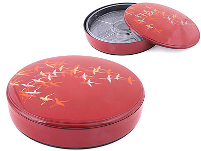 Crane Motif Sushi Oke/ Divided Container