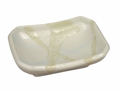 Marbled White Ceramic Sauce Dish (3 pcs only)