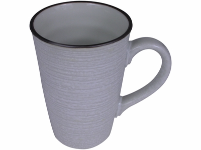 Contemporary Brown on White Coffee Mug