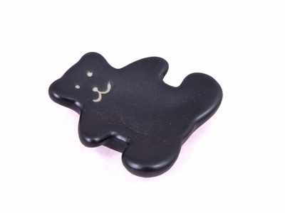 Black Teddy Porcelain Chopstick Rest