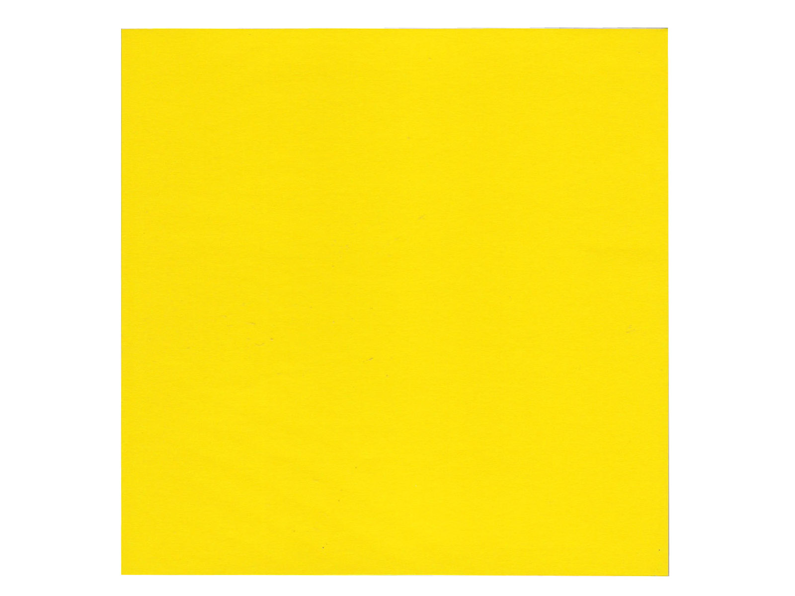 Six Inch Bright Yellow Origami Craft Papers