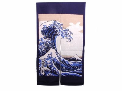 "The Great Wave Off Kanawaga"" Noren"""