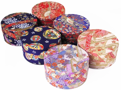 Gorgeous Festive Japanese Washi Tea Storage Tin