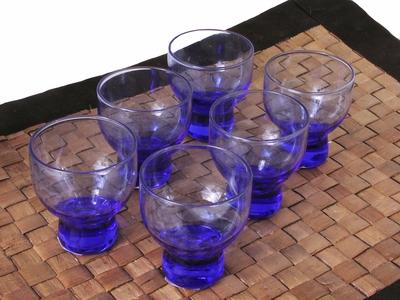 Blue Ice Chill Glass Sake Cup Set