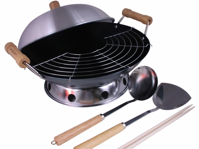 Everything You Need for Stir-Fry Round Bottom Chinese Wok and Accessory Set