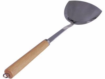 Wok Accessory Stainless Steel Spatula with Wooden Handle