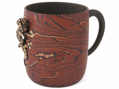 Gecko Marbled Clay Yixing Tea Cup