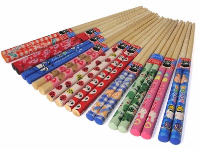 "Charming ""It's a Child's World"" Motif Children Chopsticks Set"