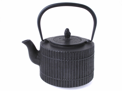 Black Tetsubin Teapot with Bamboo Design (LAST 2)