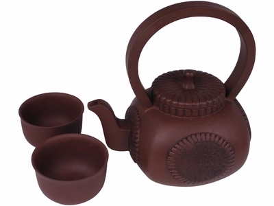 Rustic Sunflower Lover Yixing Tea Set for Two