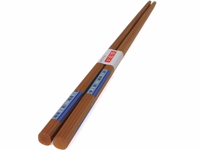 Sweet Blue Textile Print Japanese Wood Chopsticks