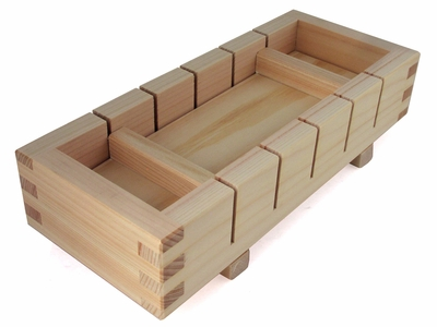 Wooden Three-Piece Japanese Sushi Mold