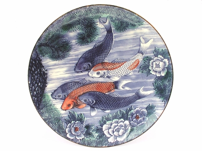 Japanese koi decorative platters - Decoratie kooi ...