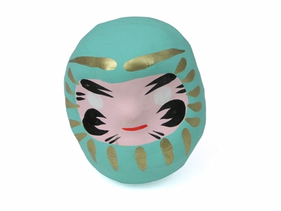 Tiny Minty Green Daruma