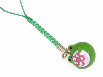 Lucky Green Frog Key Charm