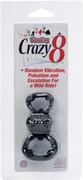 Vibrating Crazy 8 Enhancers, Black