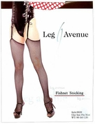 Leg Avenue Fishnet Stockings - Red