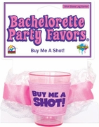 Bachelorette Party Favors Shot Glass Leg Garter Pink