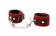 Triple X Red Suede Leather Wrist Cuffs