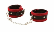 Triple X Red Suede Leather Ankle Cuffs
