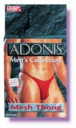 Adonis Mens Mesh Thong - Red