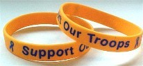 Support Our Troops Bracelet Blue Letters Child Size