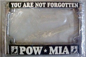 pow mia motorcycle license plate frame - Military License Plate Frames