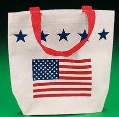 Patriotic Canvas Tote Bag