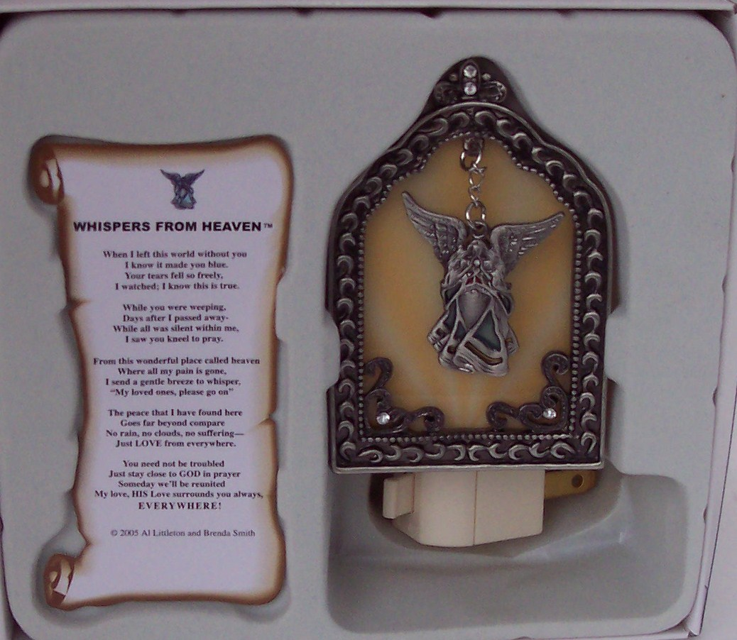 Whispers from heaven wind chimes sympathy gifts