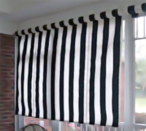 Exterior Or Porch Window Roll Up Window Shades In Sunbrella Fabrics With Manual Hand Crank Or