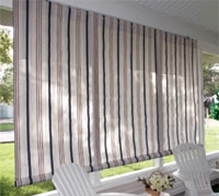 Sunbrella Textilene Fabric Outdoor Roll Up Window Curtains