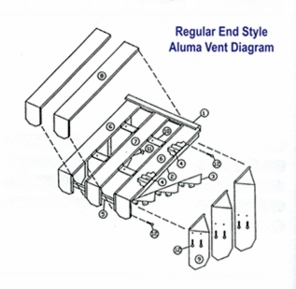 Aluma Vent Aluminum Porch and Patio Awning Covers - Large Sizes