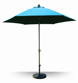 California Umbrella 9-ft Aluminum Market Umbrella with Fiberglass Ribs - Crank & Tilt
