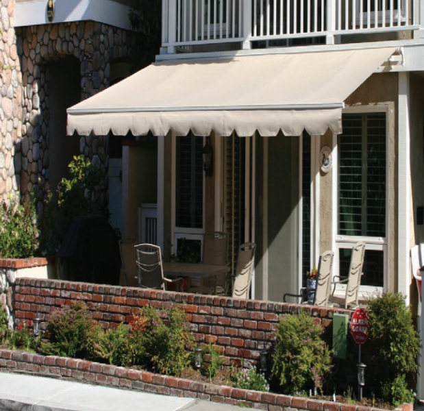 Fabric Retractable Porch Cover Canopy - Motorized or ...
