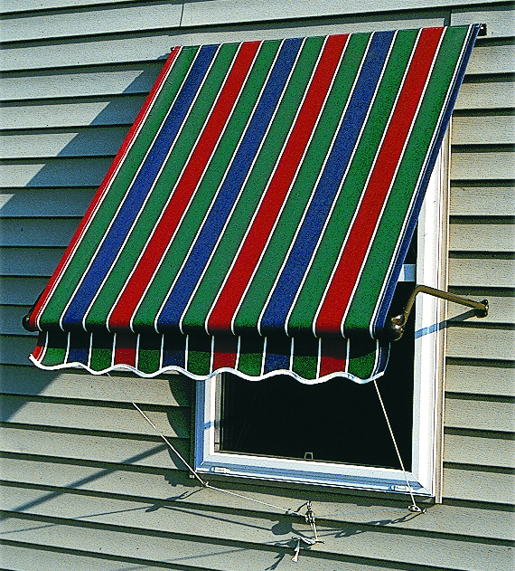 Fabric Window Awnings : Sunbrella fabric roll up window awnings