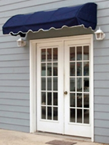 EZAwn Quarter Round Style Window Awnings & Door Canopies Sized 4', 6', 8', 10' & 12' wide in Sunbrella Awning Fabric