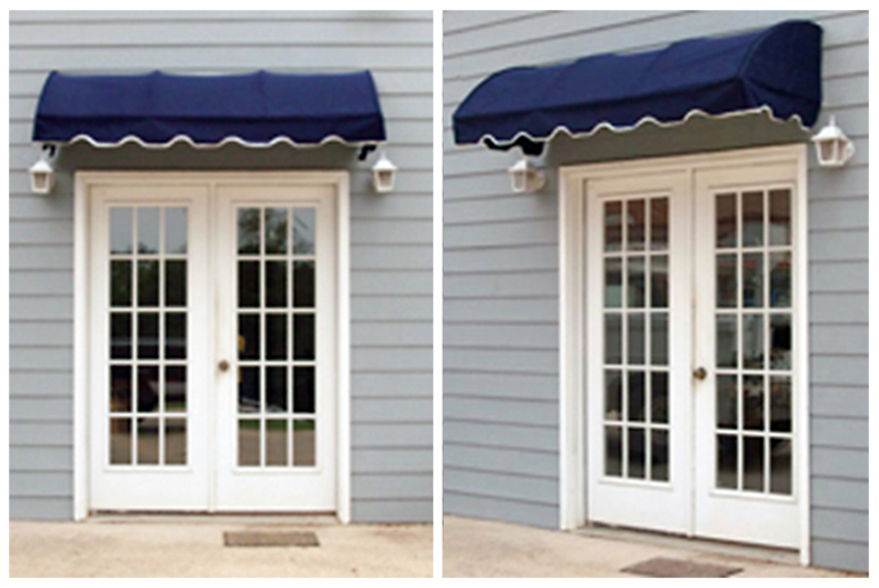 EZAwn Quarter Round Style Window Awnings Door Canopies Sized 4 6 8 10 12 Wide In Sunbrella Awning Fabric