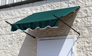 EZAwn Spear Style Window Awnings & Door Canopies Sized 4', 6', 8', 10' & 12' wide in Sunbrella Awning Fabric