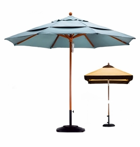California Umbrella Wooden Market Umbrellas - 3 Sizes
