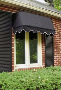 Casement Window Awnings - Sunbrella Fabric Casement Style Awning
